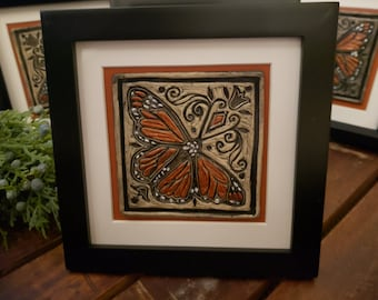 Monarch Butterfly Ceramic Art Tile © 2003. All Rights Reserved.