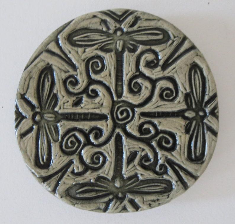 Dragonflies  Ceramic Fridge Magnet © 2003. All rights image 0