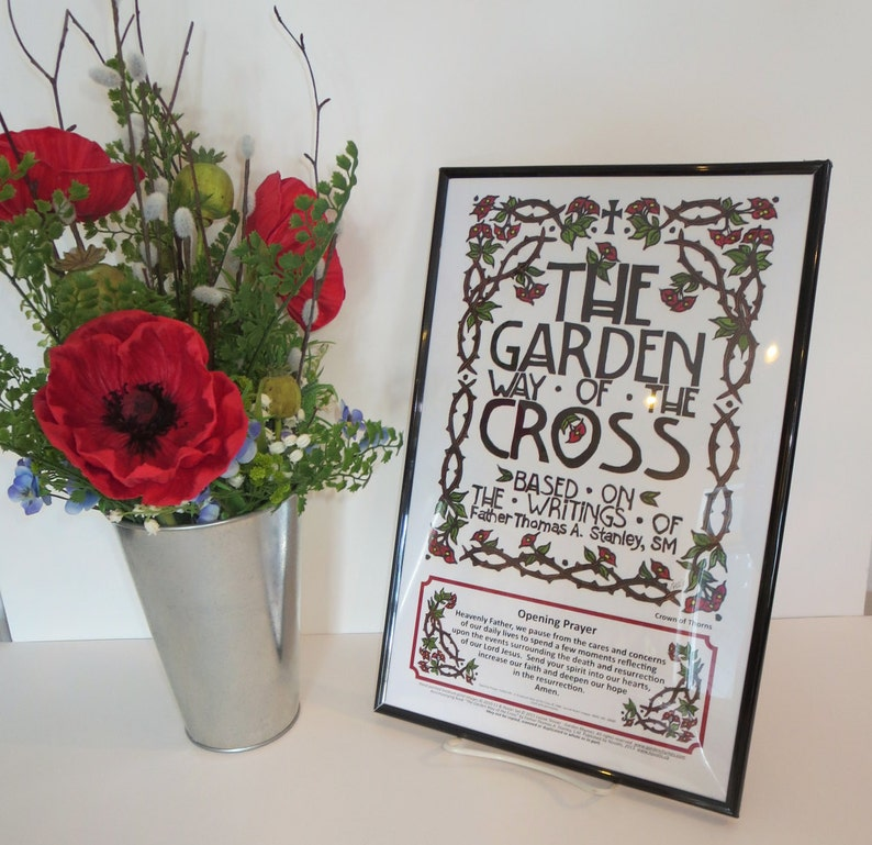The Garden Way of the Cross Art Posters Set of 15 © 2015. image 0