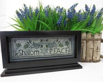 Shalom (Peace) - Ceramic Art Tile © 2006. All rights reserved.