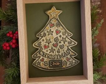 Christmas Tree Keepsake 2020 - Ceramic Art Tile© 2000. All rights reserved.