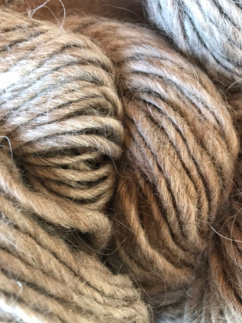 Light Grey with Subtle Brown Lopi 5050 Icelandic Wool and Llama Fiber
