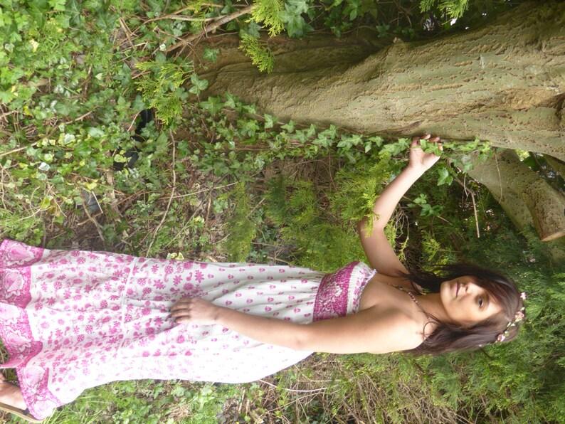 Beautiful Boho Dress Summer Dress Faery Dress Floaty Dress in Indigo or Pink