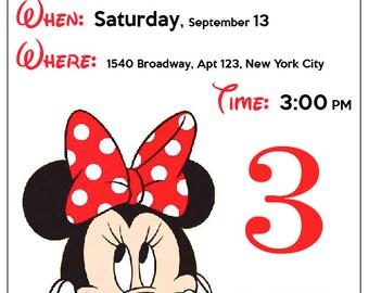 email mickey mouse birthday party invitation etsy