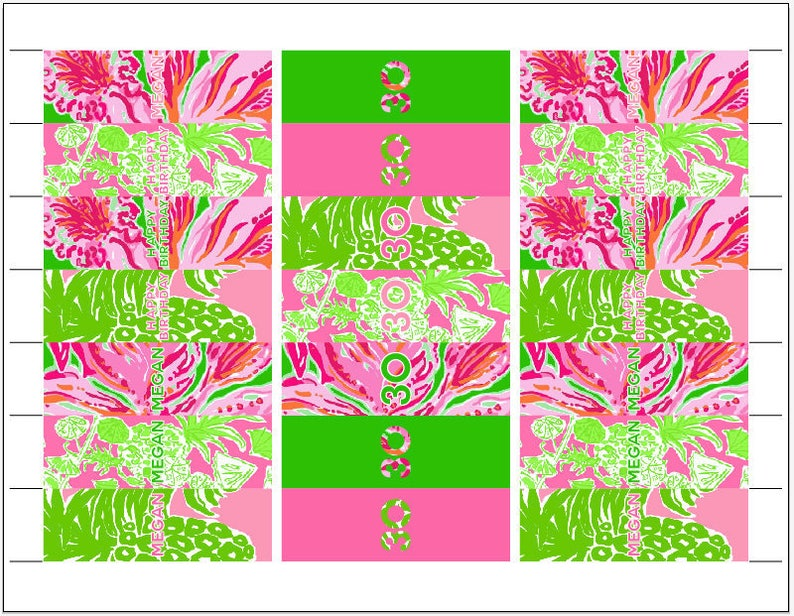 Set of 120 Palm Beach HERSHEY/'S Nuggets Wraps Custom Printed and Cut