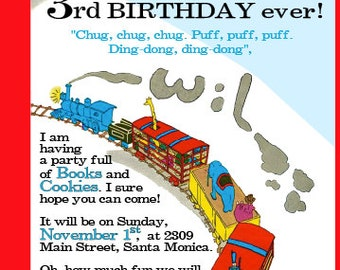 The Little Engine That Could Invitation Printable (or already printed available for extra charge)