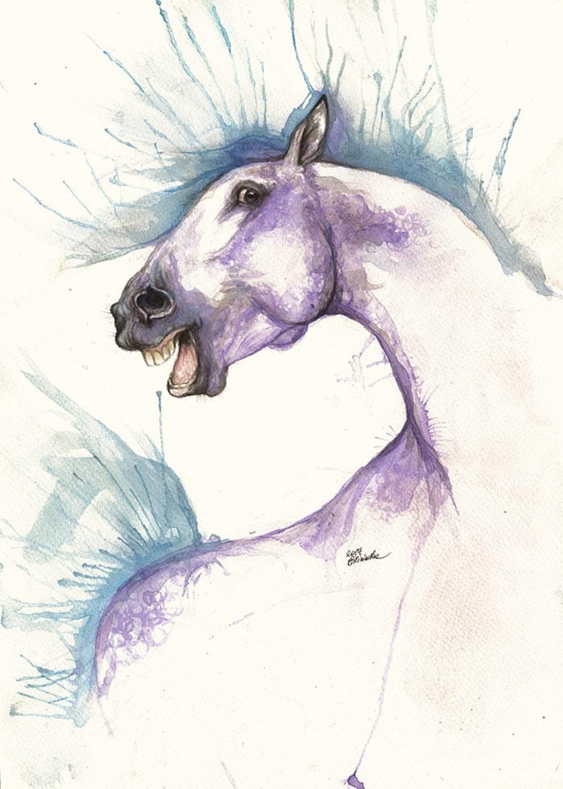 Andalusian horse equine art equestrian horse portrait image 0