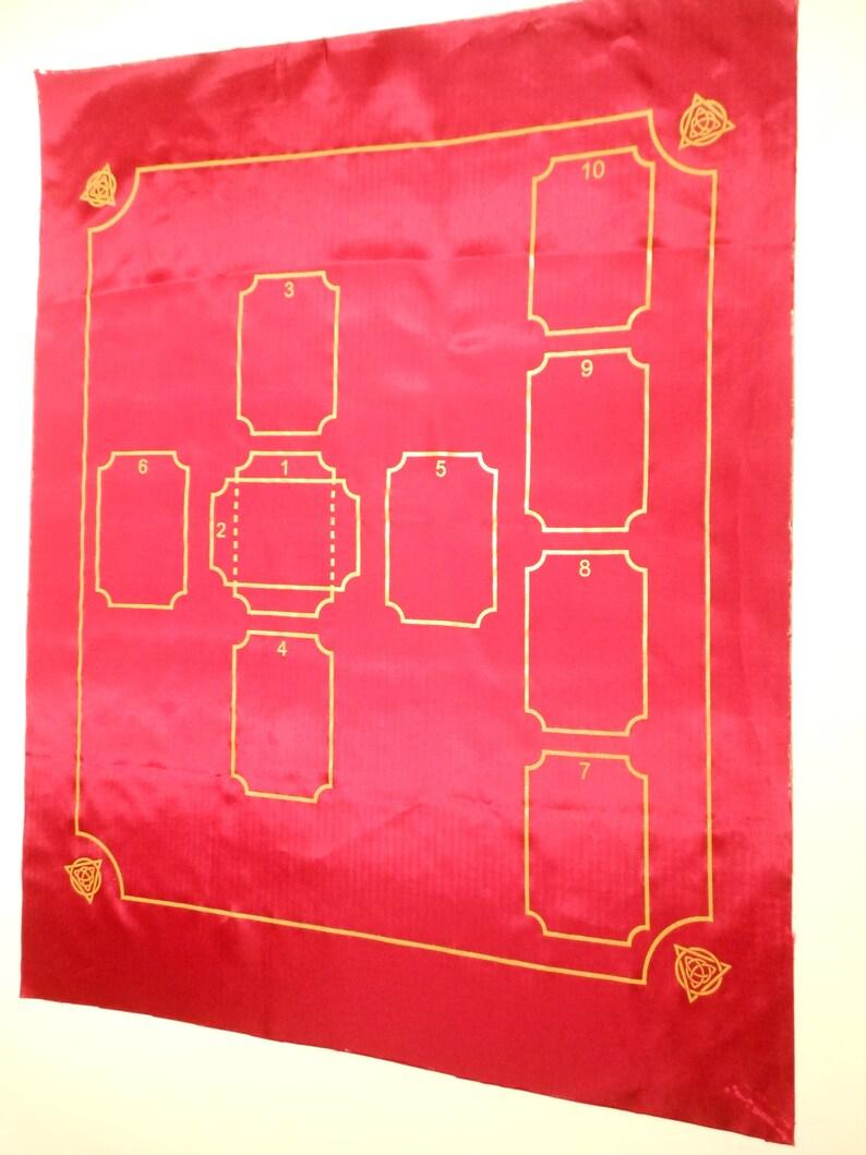 10 Card Original Celtic Cross Tarot Spread Cloth Custom Made 19