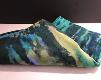 Green Print Baby Blanket