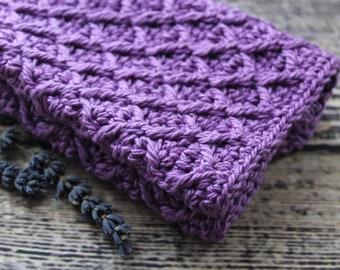 Crochet Washcloth Set/Baby Washcloth Purple/Hostess Gift/Stocking Stuffer/Gift for Her/Gift for Mom/Crochet Dishcloth Set/Handmade Washcloth