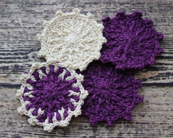 Face Scrubbies/Cotton rounds/Crochet Face Scrubby/Makeup Removers/Stocking Stuffers for Women /Crochet Cotton Makeup Removers/Gifts For Mom