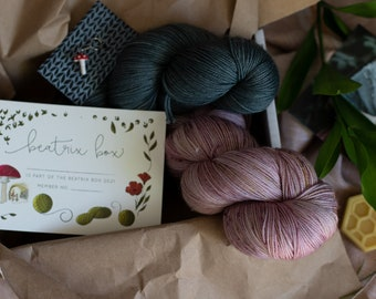 The Beatrix Box | surprise gift box for knitters (yarn, pattern, artist-made)