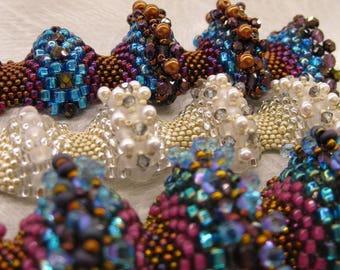 Made to Order Beaded Peyote Scallopini Bracelet
