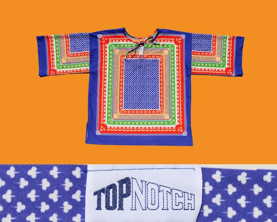 """1970s """"Top Notch"""" Polyester Pullover Tunic/ Psyche"""
