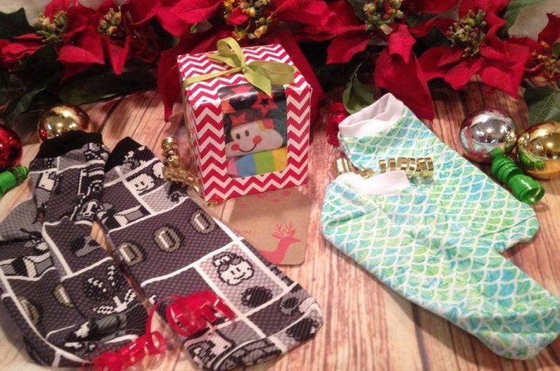 kids socks 3-pack MYSTERY gift box  CUSTOM ORDER  Stocking stuffer baby newborn to size 12 custom socks Nb size 8 Rel Apparel