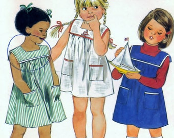 Butterick 3687 Sewing Supply Pattern Childrens Dress