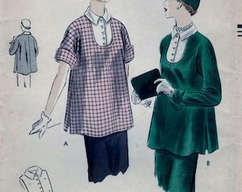 Vogue 7128 Pattern Maternity Tunic And Vestee Size 12 B30 - UNCUT