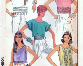 Misses Pullover Tops - UNCUT Simplicity 8623 Pattern Size H  (6-8-10) -community blouse  OOP/Htf