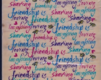 Inkadinkado Friendship Is Rubber Stamp