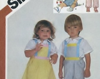 Simplicity 6311 Sewing Supply Pattern Toddlers Overalls, Jumper, And Sundress No ENVELOPE PATTERN UNCUT
