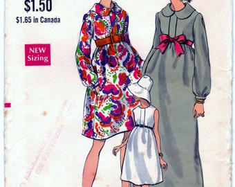 Maternity One-Piece Dress in Two Lengths - Size 8 B31 And A Half - CUT Vogue 7382 Pattern