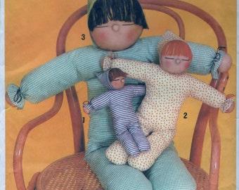 Stuffed Doll In Three Sizes - UNCUT Simplicity 9544 Pattern OOP