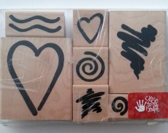 CTMH Close to My Heart Bodacious Bolds Valentines Mounted Rubber Stamp Set