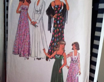 Simplicity 7807 Pattern DIY Misses Dress And Unlined Jacket Partially CUT