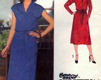 Simplicity 9081 Pattern Pullover Dress and Tie Belt