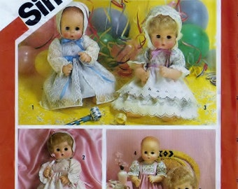 Simplicity 6055 Craft Supply Pattern Dolls Set Of Party Dresses