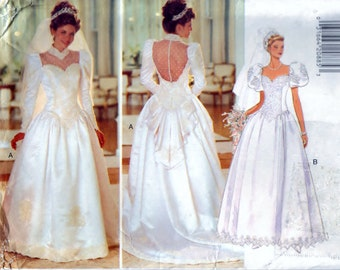 Misses' Wedding Dress - Size 8. 10. 12 - UNCUT Butterick 3839 Pattern