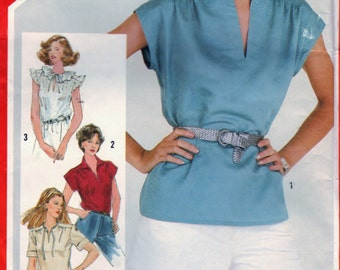 Simplicity 5456 Pattern Sewing Craft Misses Pullover Tops