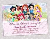 Disney Baby Princess Birthday Party Invitation