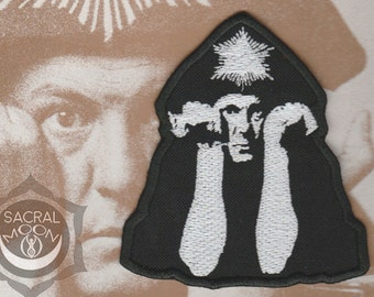 Aleister Crowley embroidered patch occultism thelema 777