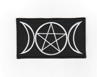 embroidered patch 8x5 cm Triple goddess