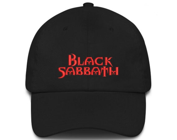 BLACK SABBATH Unstructured Baseball Dad Hat Adjustable Cap New Black