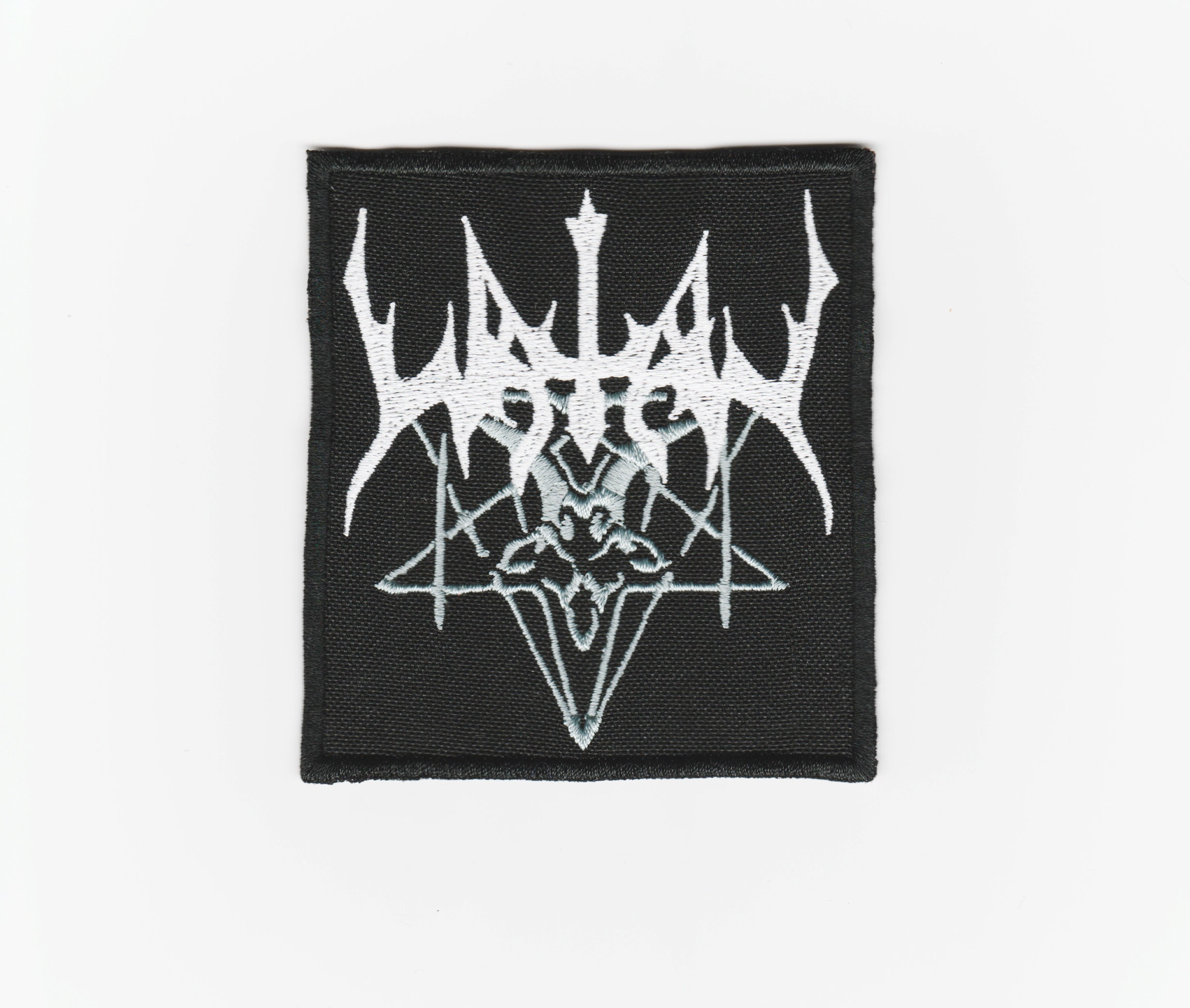 Watain patch Embroidered logo Black metal ambient patch with logo Band symbol rock patches pin tour vintage