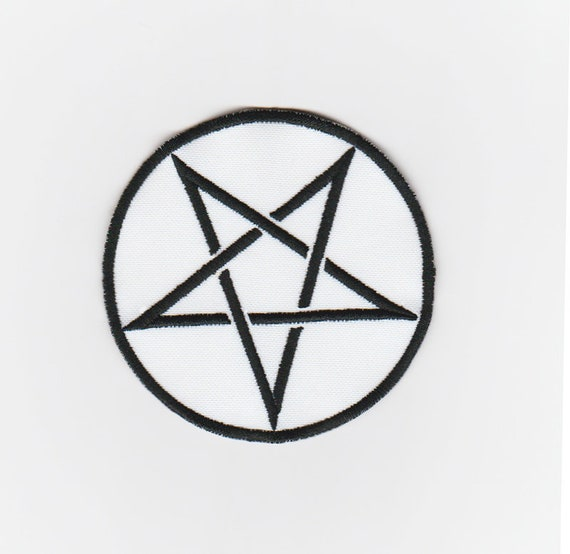 Pentagram Pentacle Symbol Satanic Star Embroidered Patch Pagan Etsy