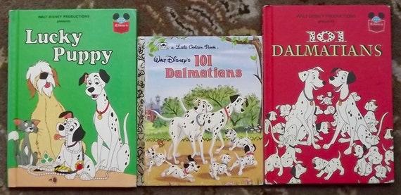 3 Books 101 Dalmatians Lucky Puppy Walt Disneys