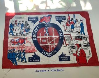 Salvation Army Linen Vintage Tea Towel London England Art Rare