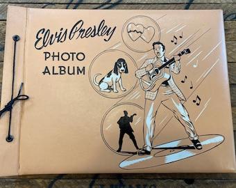Rare Elvis Presley Scrapbook Photo Album Rockabilly Record Music Mid century Book