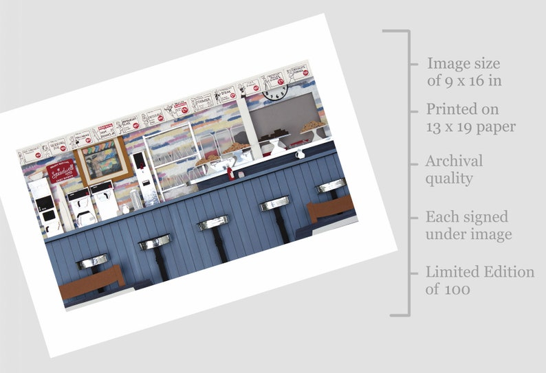 ArtCliff Diner Limited Edition Archival Print image 0