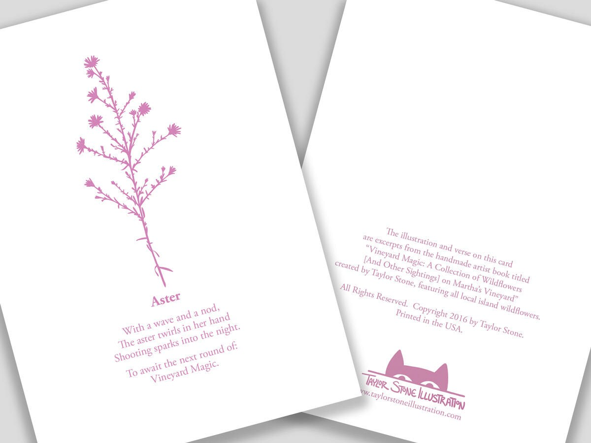 Aster daisy flower card with poem etsy zoom izmirmasajfo