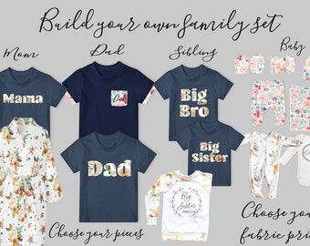 Coming Home Outfit // Family Outfit // Dad Shirt // Big Brother // Big Sister // New Baby Set // Build your own Family Coming Home Set