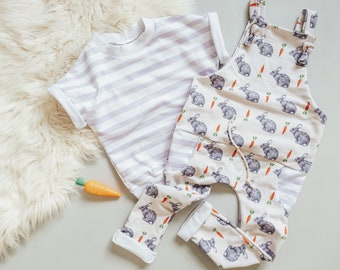 Baby boy Easter // Boy Easter // Bunny and Carrot Overalls // Easter // Coming Home Outfit