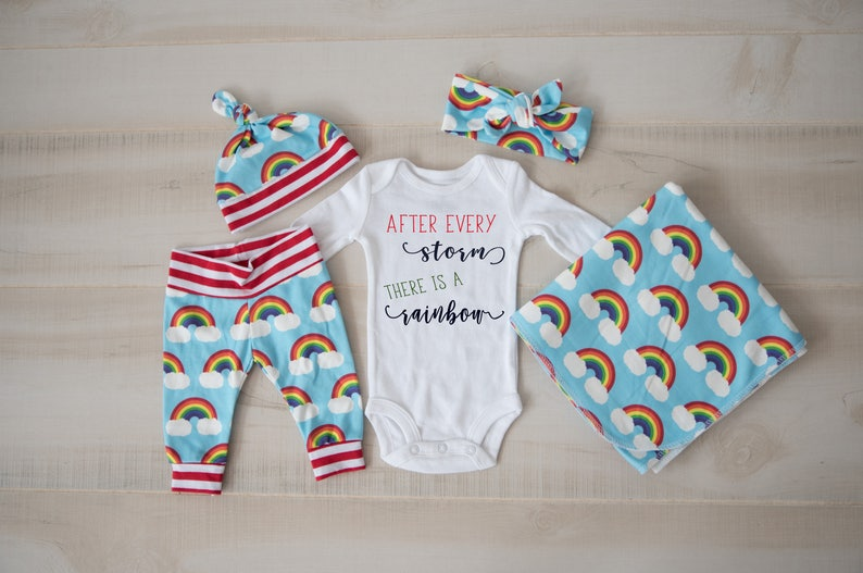 a122db802 Baby Girl Baby Boy Coming Home Outfit Rainbow Baby  Rainbow