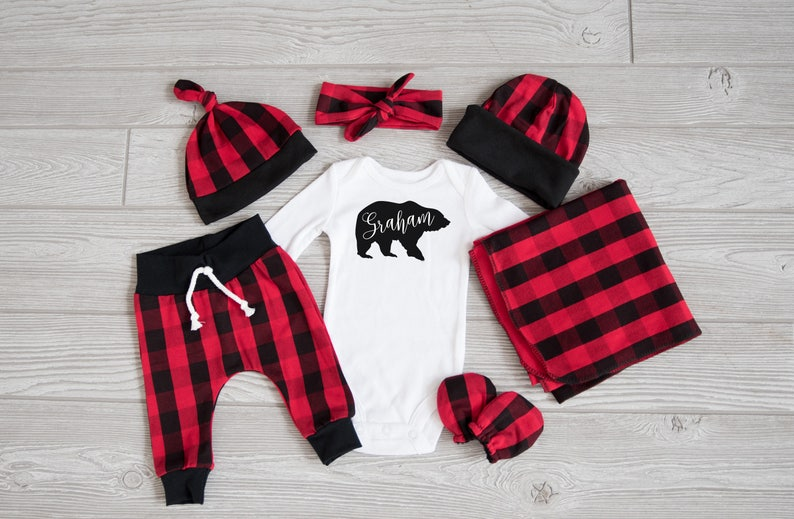 Baby Boy Coming Home Outfit Christmas: CHOOSE YOUR COMBO image 0