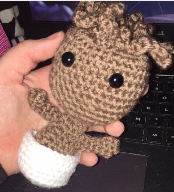 Häkeln Baby Groot Häkelpuppe Groot Puppe Ich Bin Groot Etsy