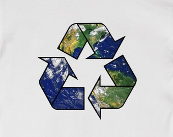 Recycle Earth - Unisex T-Shirt Tee Environmental Shirt Nature Inspirational Green Climate Gift Eco 11:11