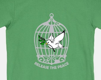 Release the Peace - Unisex T-Shirt Mens Womens Tee Anti-War Dove Inspirational Activist Shirts 11:11